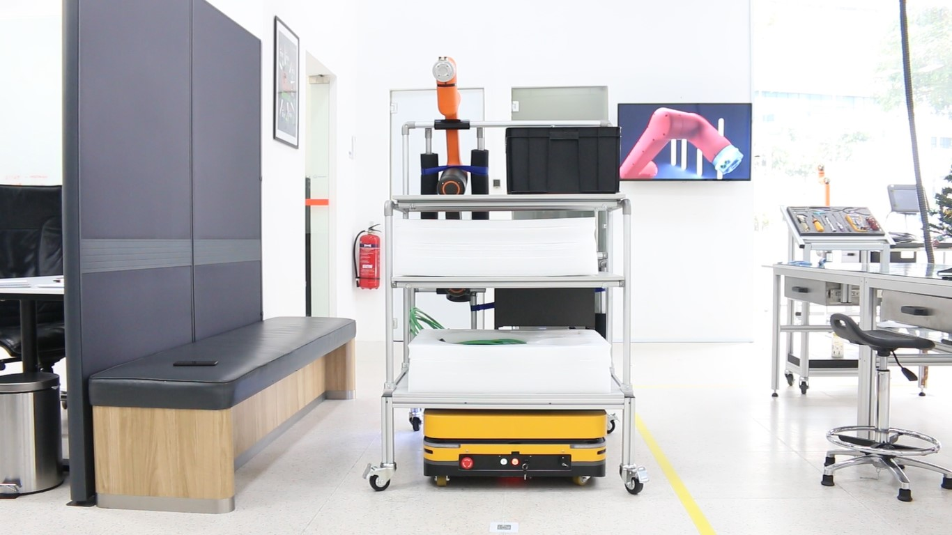 PBA-Hanwha, Automated transfer of materials for robotics assembly